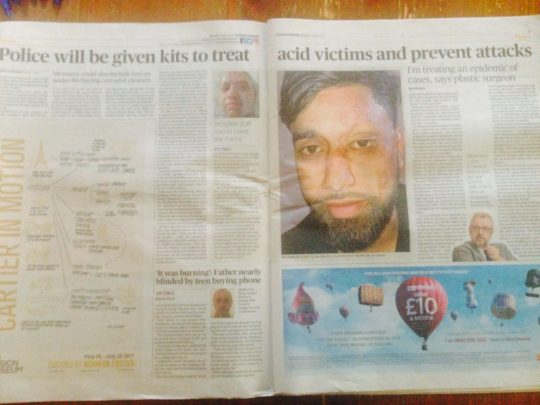 Evening Standard Acid Attacks
